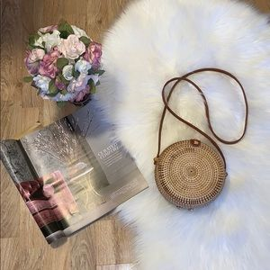Handbags - Cute Rattan Circle Bag Mori Retro Art Hand Woven